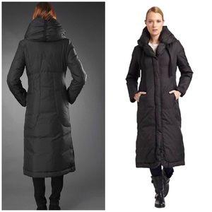 EUC Elie Tahari Harlow Maxi Down Puffer Black Coat